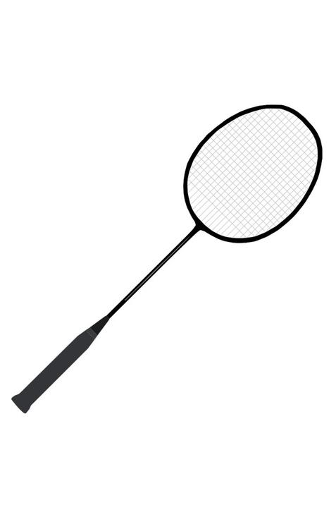 Coloring page badminton racket img 22712 for Badminton coloring pages