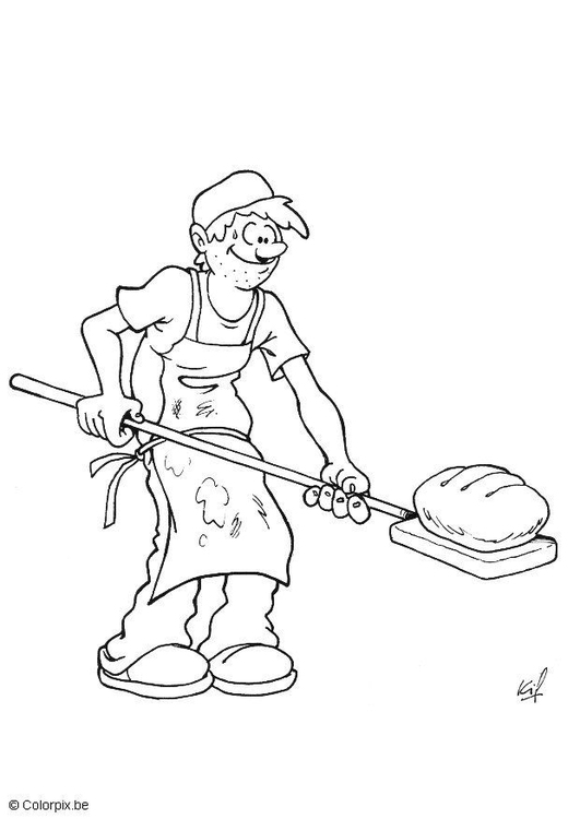 coloring page baker - Baker Coloring Page