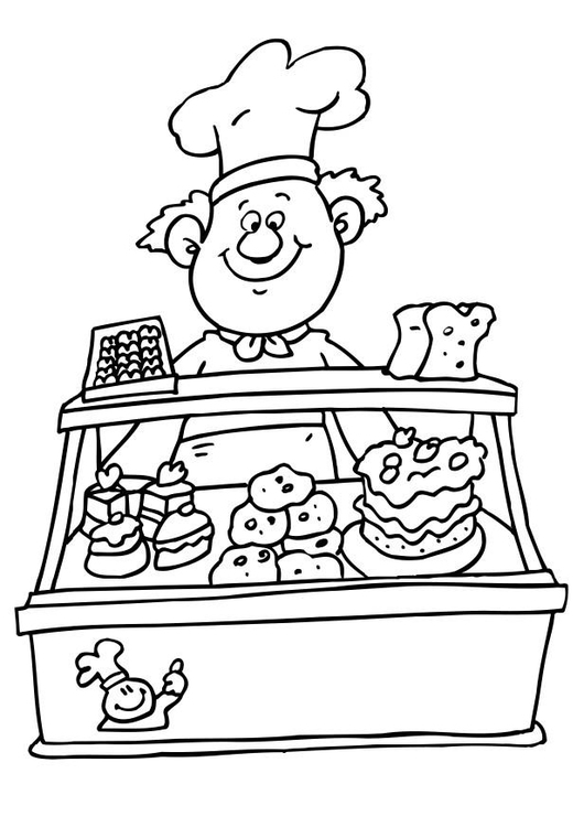 Coloring page baker