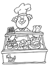 Coloring pages baker