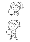 Coloring pages ball game