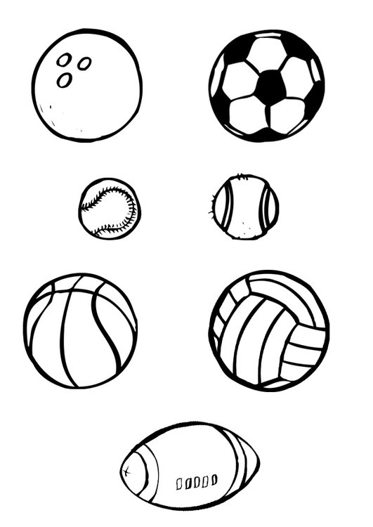 Coloring page ball sports