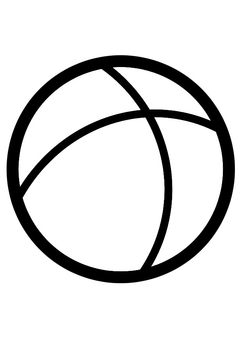 Coloring page ball
