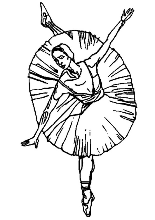 Coloring Page ballerina - free printable coloring pages