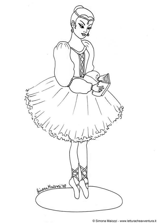 Coloring page ballerina