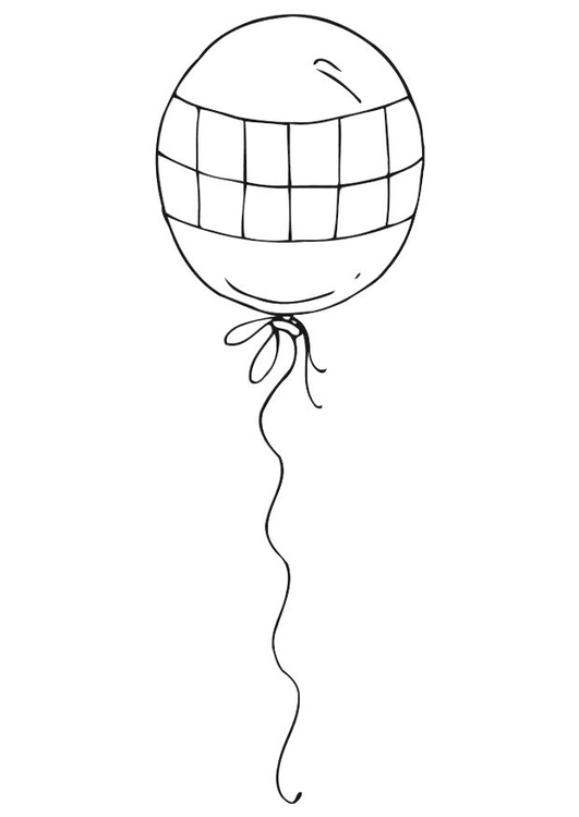 Coloring Page Balloon