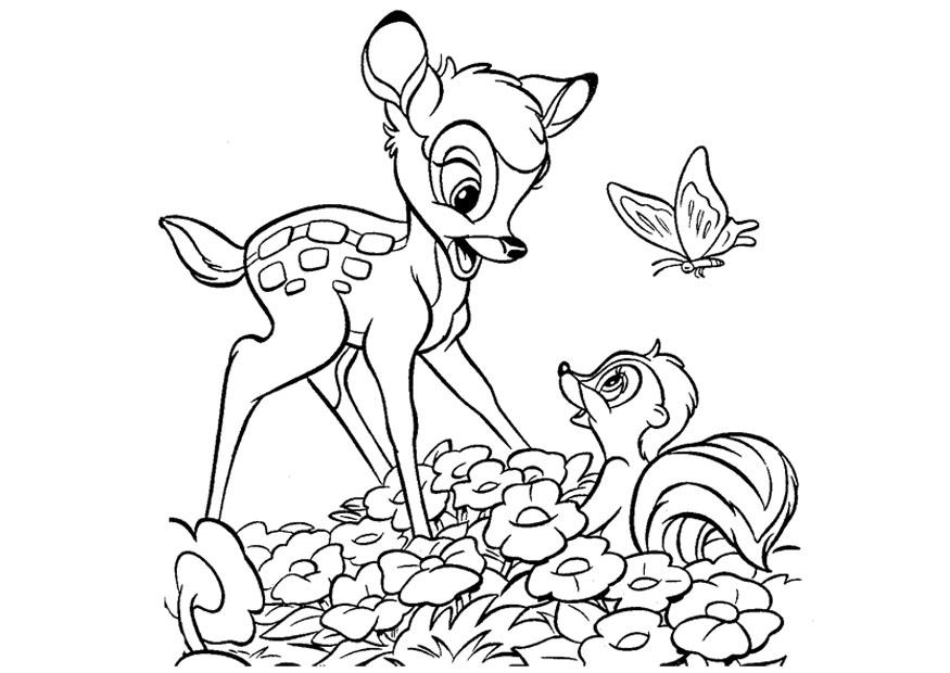 Coloring Page Bambi Free Printable Coloring Pages