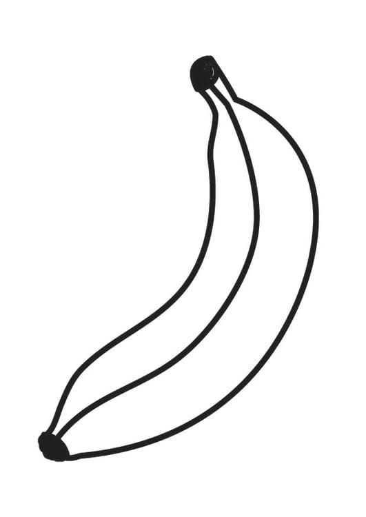 Coloring Page Banana