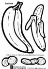 Coloring pages banana