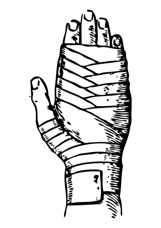 Coloring page bandage
