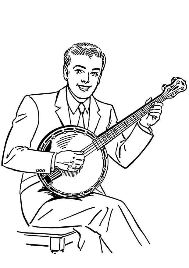 Coloring Page Banjo Img 13253