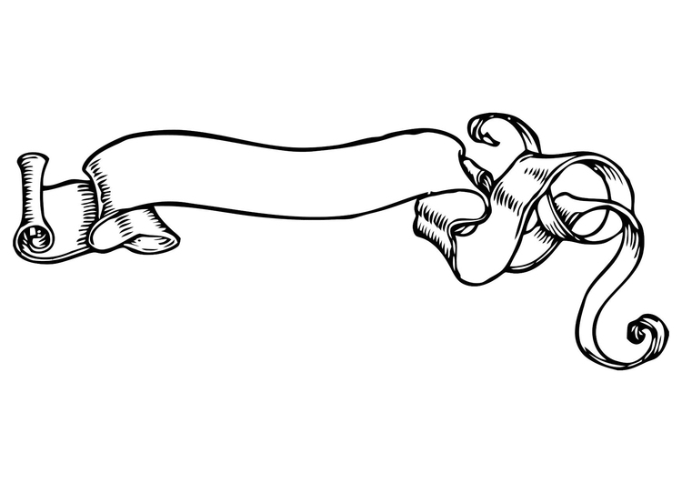 Coloring page banner