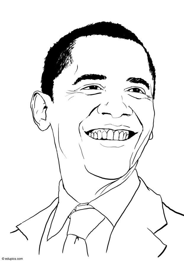 how to draw barack obama for kids
