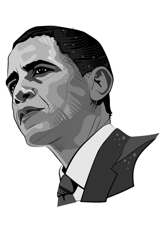 Coloring page Barack Obama img 24667