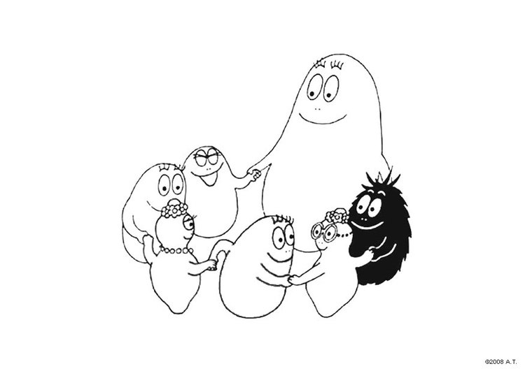 Coloring page Barbapapa circle