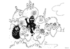 Coloring page Barbapapa family