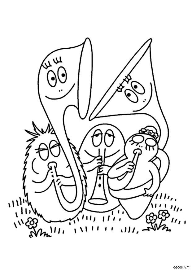 Coloring page barbapapa orchestra img 9566 for Orchestra coloring pages