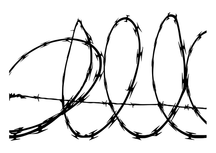 Coloring page barbed wire