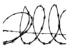 Coloring pages barbed wire