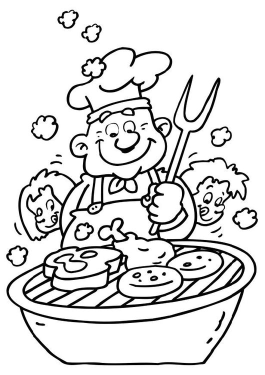 Coloring page barbeque