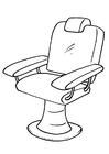 Coloring page barber chair