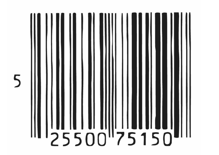 Coloring page barcode