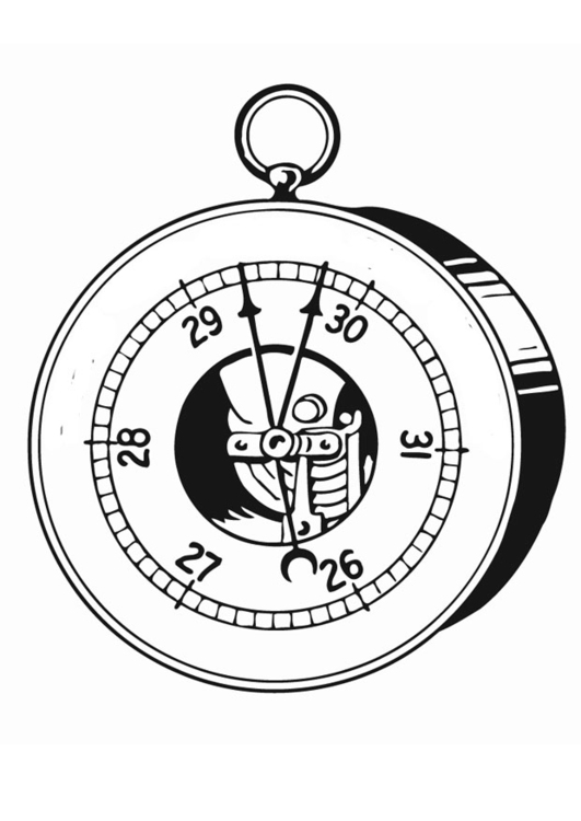 Coloring page barometer