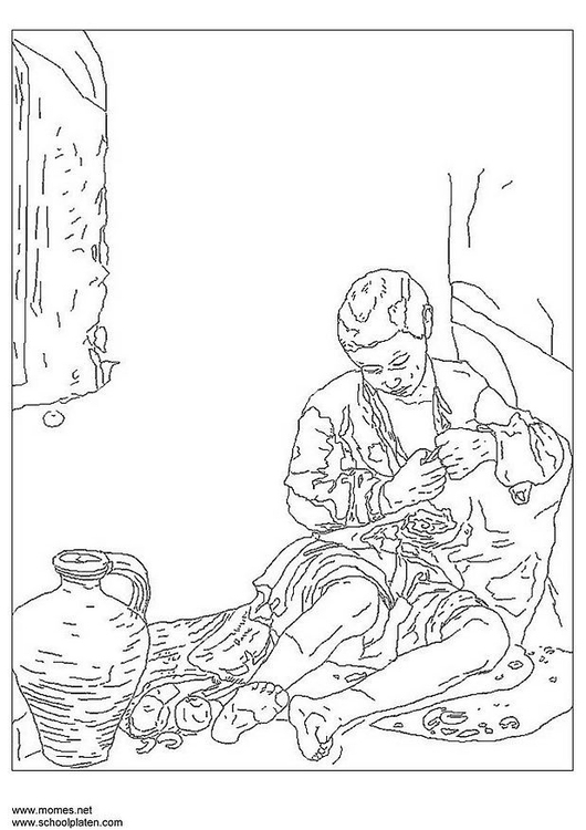 Coloring page Bartolomé Murillo