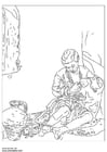 Coloring pages Bartolomé Murillo