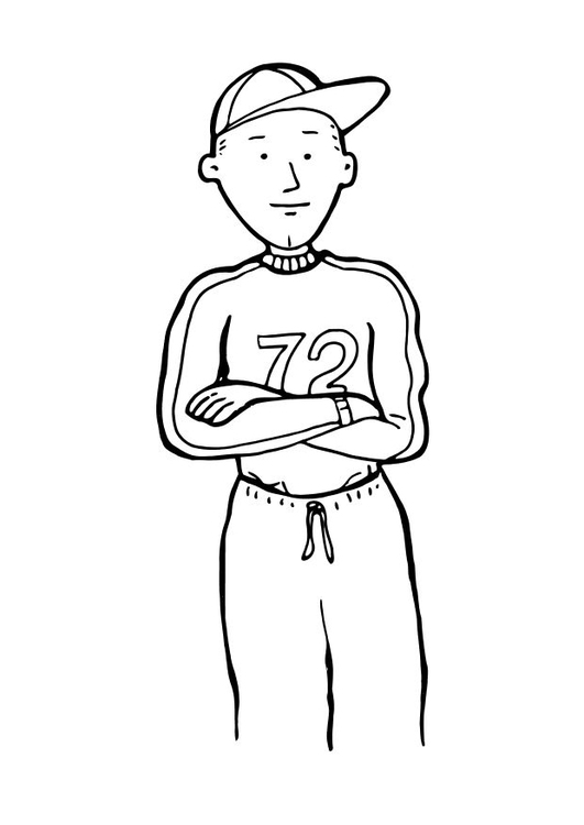 Coloring page baseball player