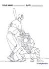Coloring page baseball