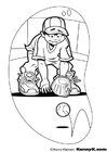 Coloring pages baseball