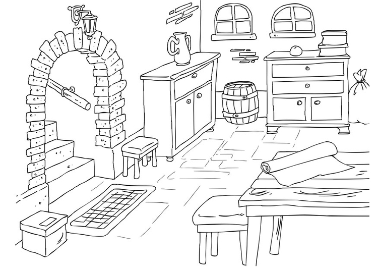 Coloring page basement