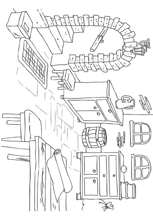 Coloring Page Basement Img 26225