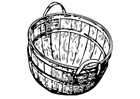 Coloring page Basket