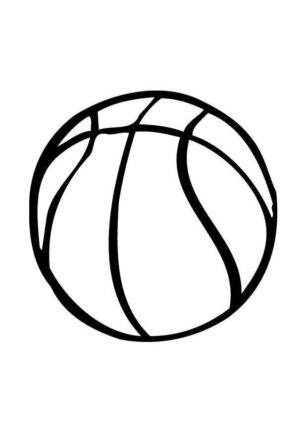 Coloring page basketball - img 10388.