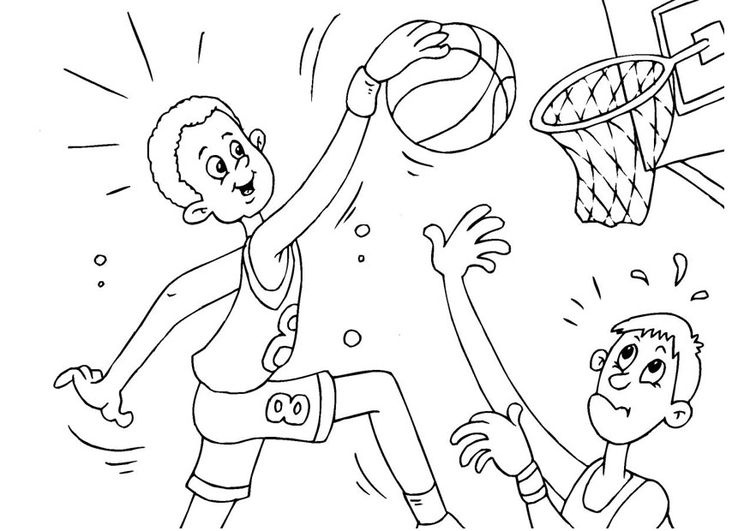 Coloring page basketball