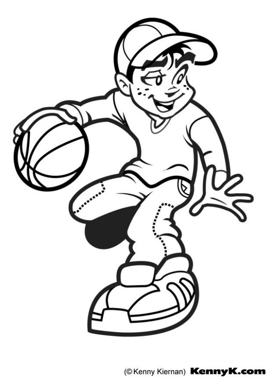 Coloring Page Basketball Free Printable Coloring Pages