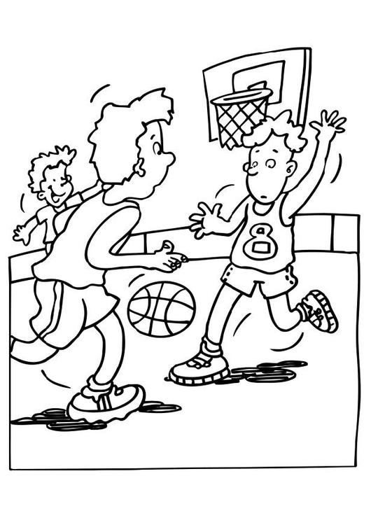 Coloring page basketball - img 6478.