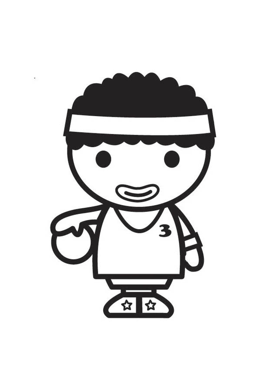 Coloring page Basketball Player
