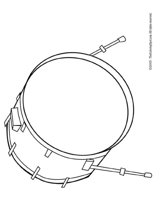 Coloring page bass drum