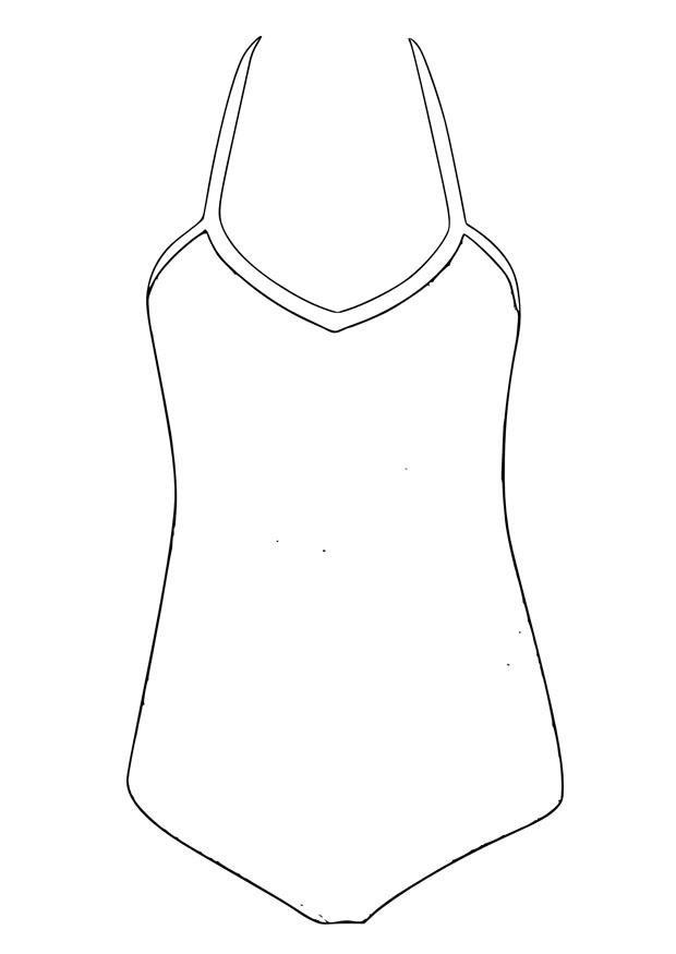 Coloring Page Bathing Suit