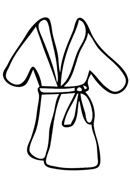 Coloring page bathrobe