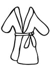 Coloring pages bathrobe