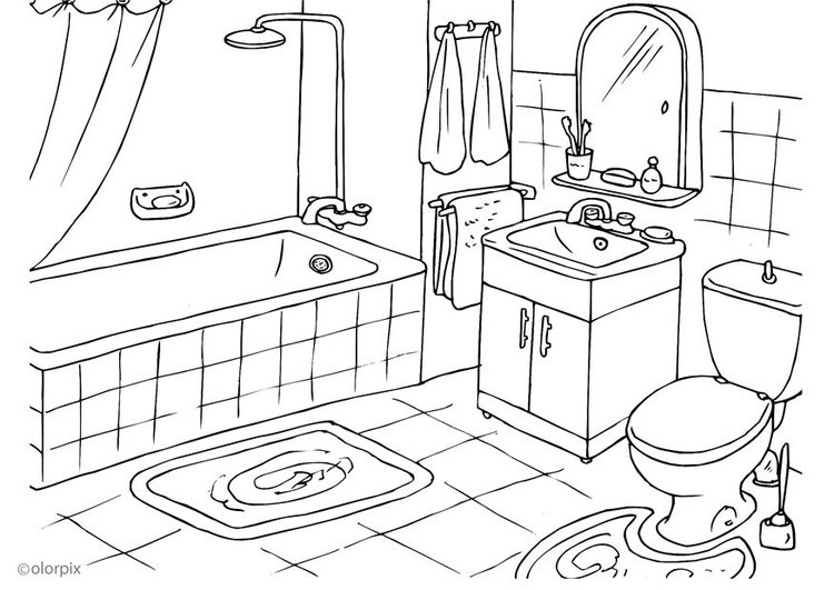 Bathroom Drawing