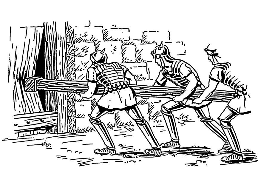 Coloring page battering ram - img 19134. Images