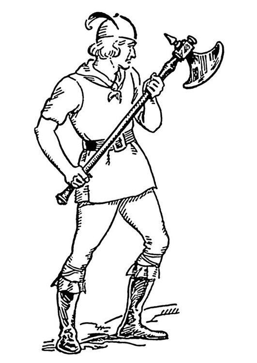 Coloring page battle axe