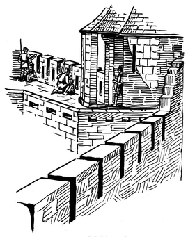 Coloring page battlement