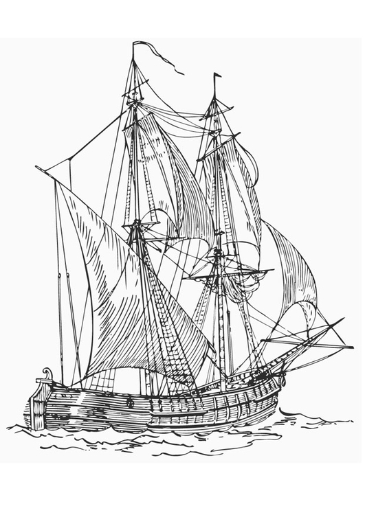 Coloring page Battleship - Billander