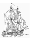 Coloring pages Battleship - Billander